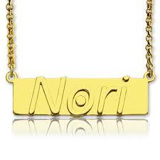nameplate bar necklace custom nameplate bar necklace 18k gold plated