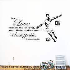 cristiano ronaldo quote wall sticker footballer sports decal art cristiano ronaldo quote wall decals