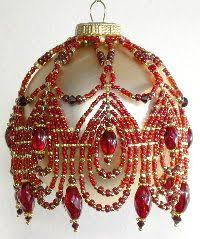 free beaded ornament cover patterns search beaded