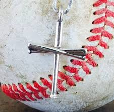 baseball jewelry baseball bat cross pendant only free chain friday only special