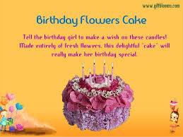 birthday wishes with cake and flowers and candles free monthly