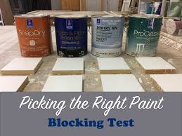 picking the right paint blocking test the craftsman blog