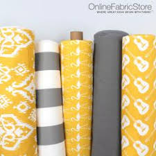 Home Decor Yellow And Gray Gray And White Fabric By Premier Prints From Onlinefabricstore Net