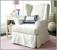 gray wing chair slipcover small wing chair slipcover gray wingback