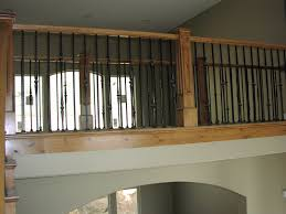 Painting Banisters Ideas Decor U0026 Tips Cool Iron Stair Railing Design With Wood Handrails