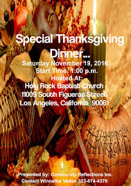 special thanksgiving dinner community transformation program help
