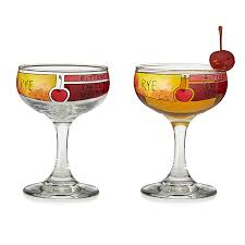 unique barware manhattan cocktail diagram glassware set of 2 unique barware