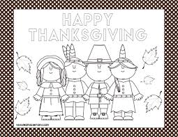 printable thanksgiving placemats real housemoms
