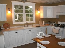 Simple Kitchen Makeovers - mesmerizing simple kitchen makeover with wall sconces and white