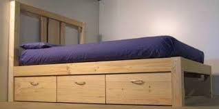 Diy Platform Bed Plans With Drawers how to build a platform beds easy build diy platform bed designs