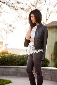 Leather And Lace Clothing Mixing Styles Lace And Leather