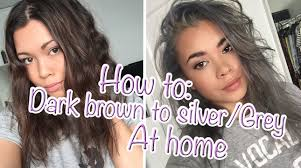 how to go from dark brown to silver grey hair at home youtube