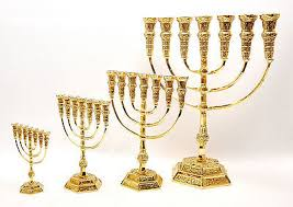 small menorah small authentic temple menorah jerusalem gold plated candle holder