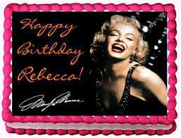 marilyn monroe quarter sheet edible image birthday cake topper