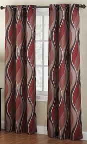 Amazon Curtains Blackout Amazon Com No 918 Intersect Wave Print Casual Textured Curtain