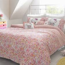 Hello Kitty Duvet Kids Bedroom With Sheer Curtains And Hello Kitty Bedding