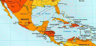 map of mixico solar insolation map mexico central america carribean