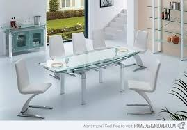 Unique White Modern Dining Room Sets Pictures Albendazoleus M With - White modern dining room sets