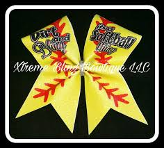 softball bows softball bows xtreme bling bowtique llc