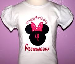 custom happy birthday minnie mouse shirt with small pink bow