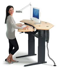 medical computer workstation height adjustable flexo corner