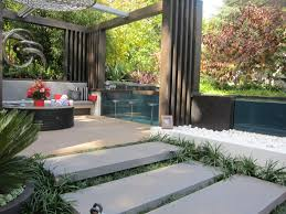 Garden Bathroom Ideas by Garden Modern Backyard Design Idea With Black Walls Designs For