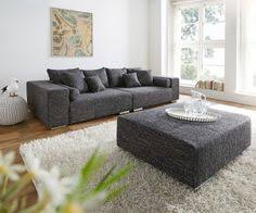 sofa hocker big sofa marbeya 280x115 cm schwarz mit hocker marbeya