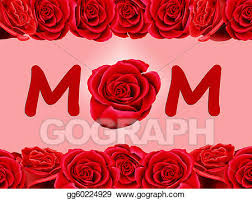 stock illustration birthday card to mum with a rose clip art