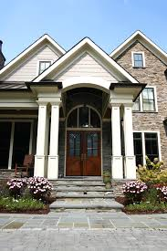 front porch columns exterior traditional with blue stone brown