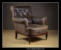 Distressed Leather Armchairs Distressed Leather Armchair Collinge Antiques