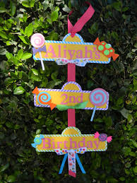 candyland party sweet shoppe or candyland party sign