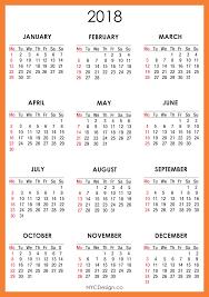 Kalender 2018 Free 2018 Calendar Printable 2018 Calendar With Holidays