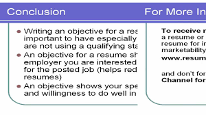 Sample Objectives For Resumes Writing An Objective For A Resume Youtube