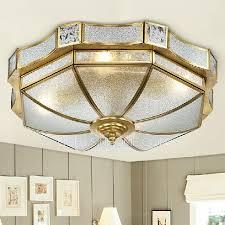 Living Room Ceiling Ls Brass Flush Mount Ceiling Light 16 9 Diameter 31w 40w