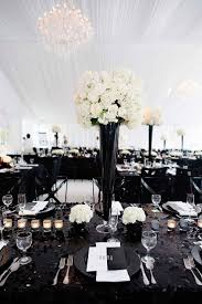 black and white table decorations for weddings