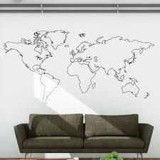 world map sticker wall art shenra com world map outline wall decal wallboss wall stickers wall art
