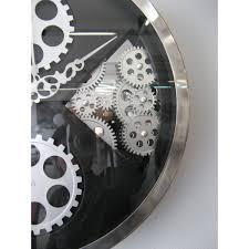 horloge murale engrenage horloge en verre coloris noir 29 horloge design carre coloris