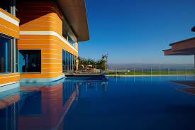 ravishing big infinity pool design ideas behind fantastic orange