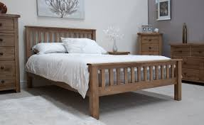 Rustic Solid Oak   Double Bed Oak Furniture UK - Oak bedroom furniture uk