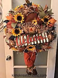 fall scarecrow wreath fall welcome wreath fall door wreath
