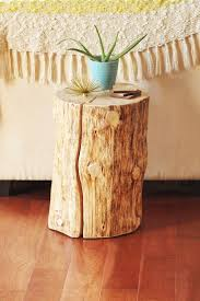 How To Make End Tables Out Of Tree Stumps by Diy Natural Tree Stump Side Table Justinecelina