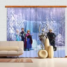 disney frozen mural curtains great kids bedrooms the children disney frozen mural curtains