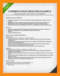 example combination resume resume example and free resume maker