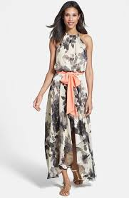 eliza j eliza j floral print chiffon maxi dress where to buy how to wear