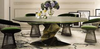 20 high end modern dining tables for stylish homes