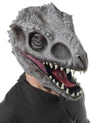 jurassic world park indominus rex t rex dinosaur 3 4 mask mens