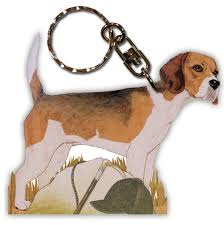 wooden keychain beagle wooden dog breed keychain key ring