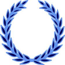 blue wreath clip at clker vector clip
