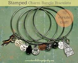 bangle charm bracelet diy images Diy stamped charm bangle bracelets i can make metal stamped jewelry png