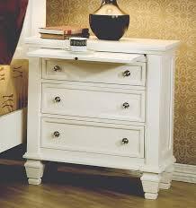 brilliant three drawer nightstand white sandy beach 3 drawer